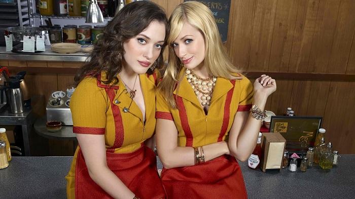 2 broke girls série